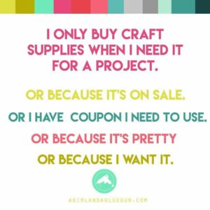 2018 Holiday Catalog funny meme about craft supplies